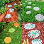30 Beautiful DIY Stepping Stones to Make for Garden