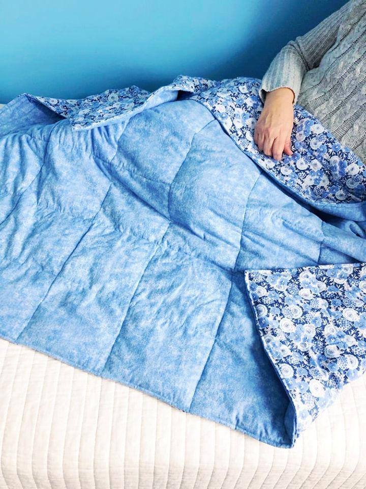 DIY Weighted Blanket for Anxiety