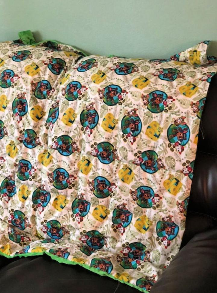 DIY Weighted Blanket for Toddlers