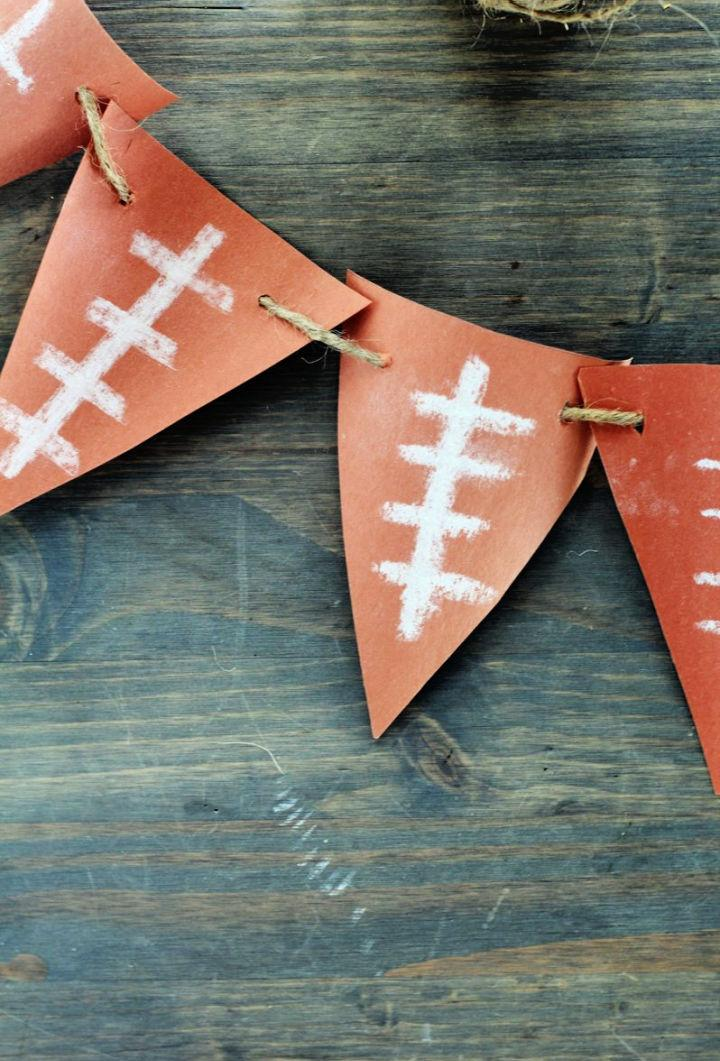 Easy Construction Paper Football Banner