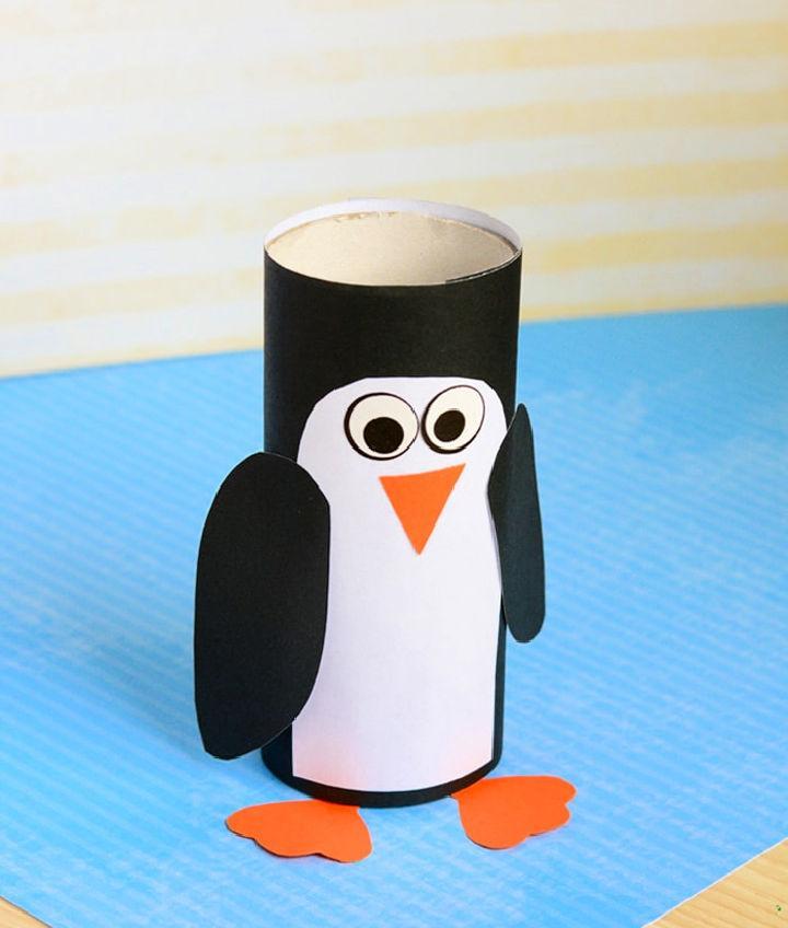 Empty Toilet Paper Roll Penguin Craft