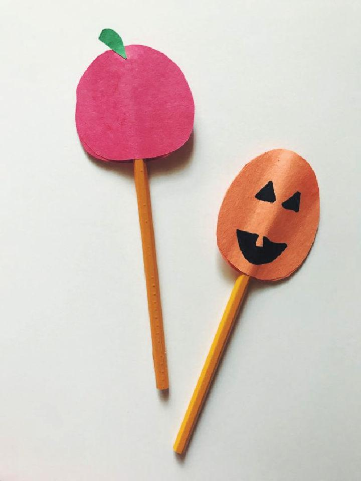Fall Construction Paper Pencil Toppers