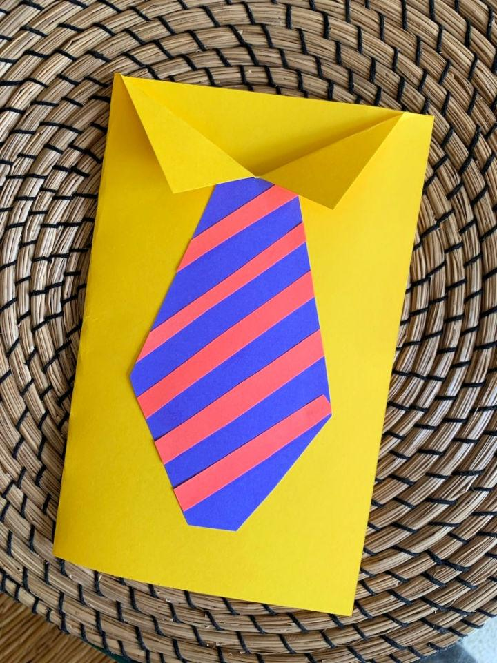 Day Tie Cards from Construction Paper