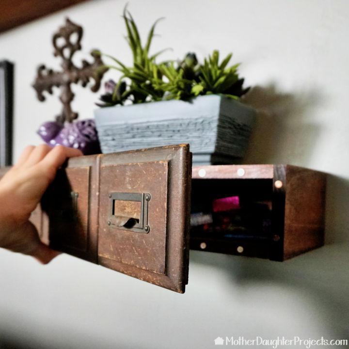 Floating Shelf With Hidden Storage