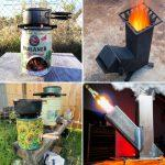 30 Free DIY Rocket Stove Plans Out of Recycled Material