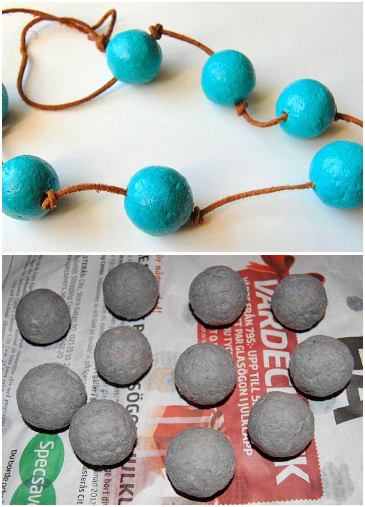 Homemade Paper Mache Beads