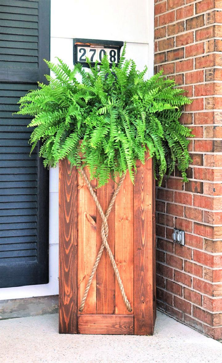 How To Build Tall Planter