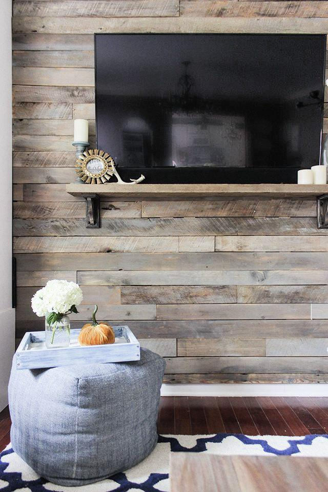 How To Make And Install A Pallet Wall