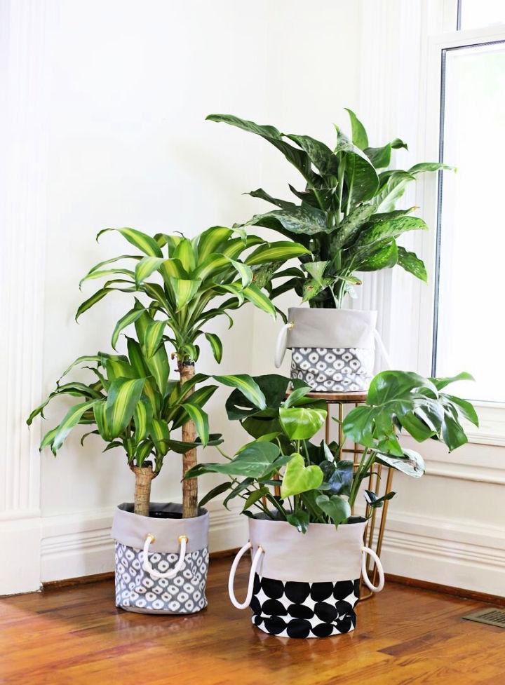 Indoor Fabric Planter DIY