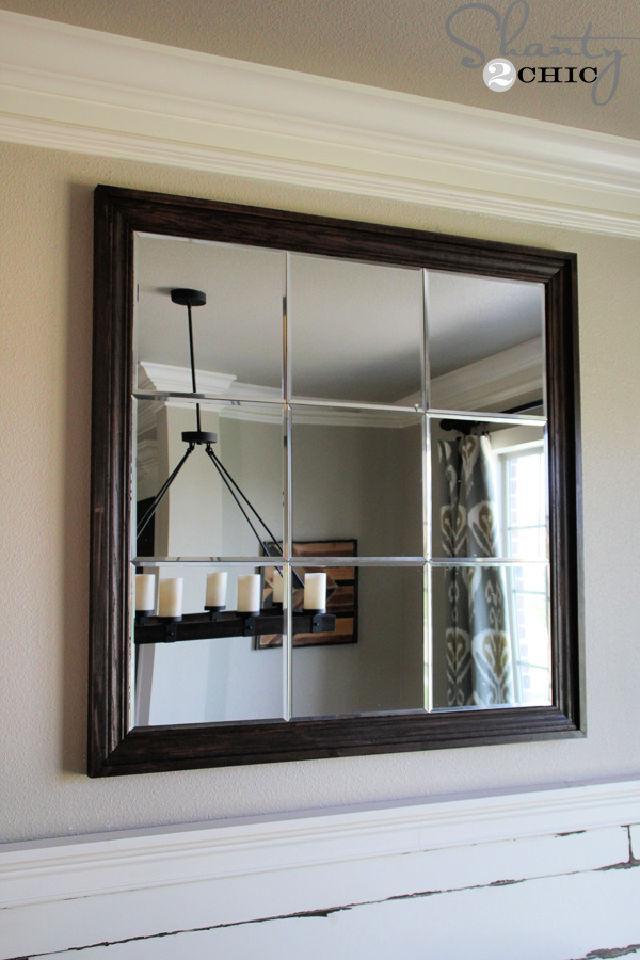 Large Paneled Wall Mirror