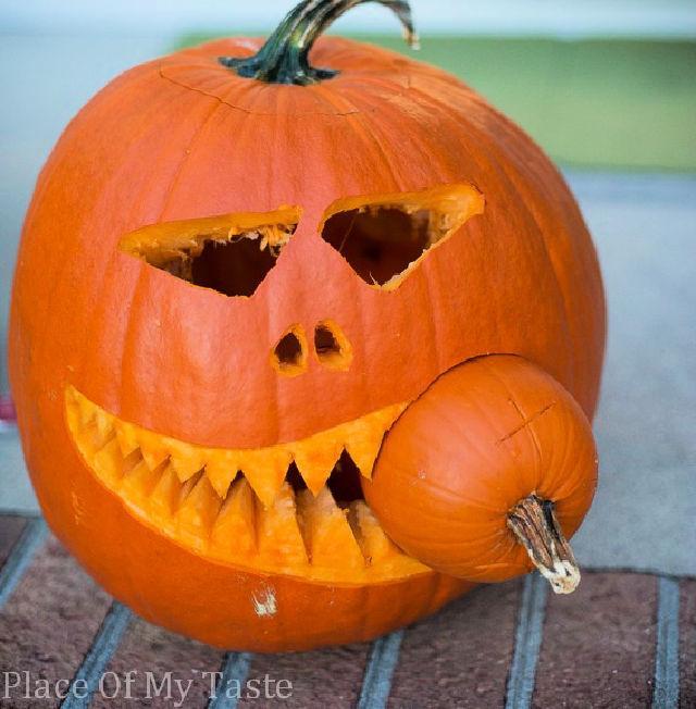 Last Minute Pumpkin Carving Idea
