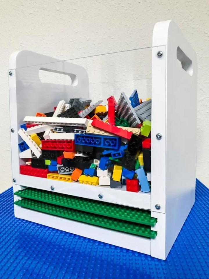 Lego Bin with Baseplate Storage