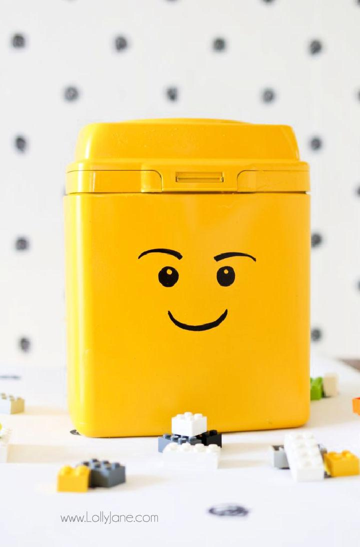 Lego Storage from Formula Container