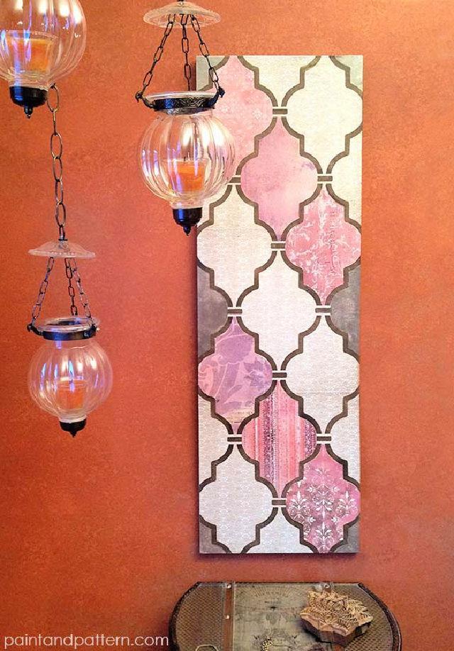Make a Decoupage Wall Art