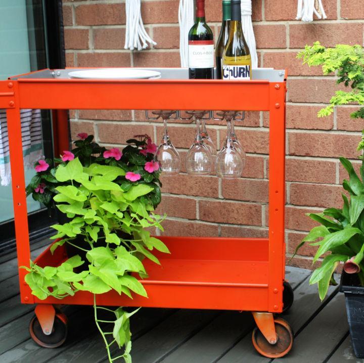 Make a Upcycled Bar Cart