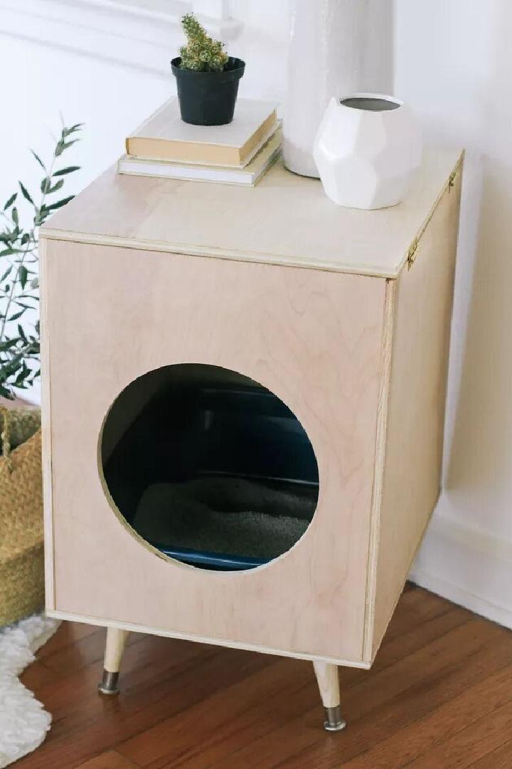 Modern Plywood Kitty Litter Box