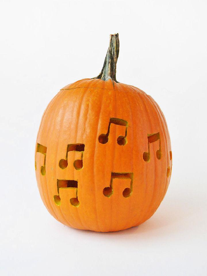 Music Note Drilled Pumpkins