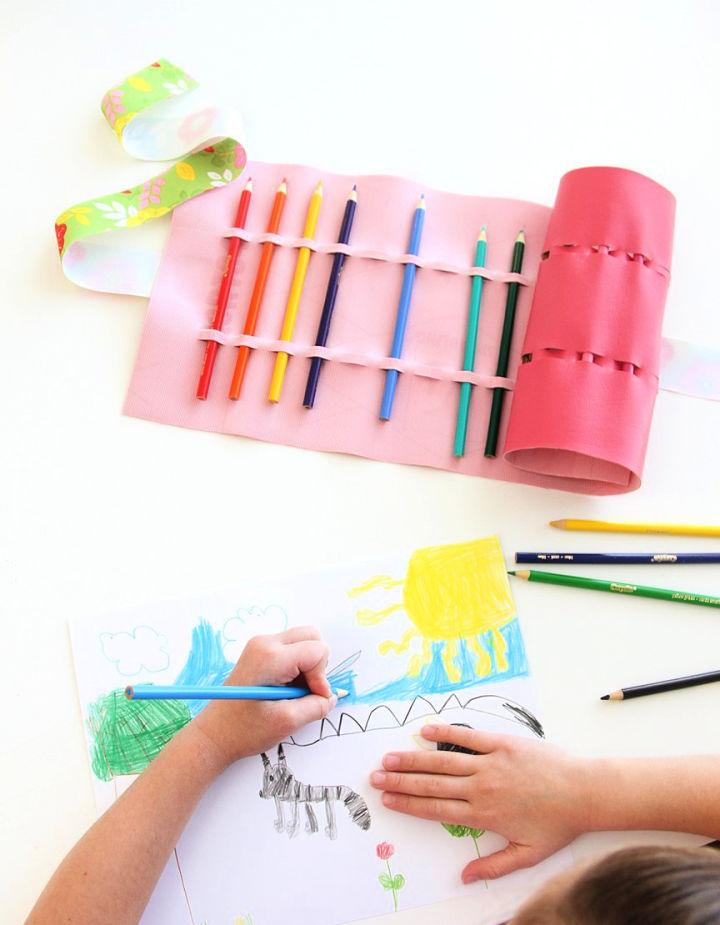 No Sew Colored Pencil Roll Up