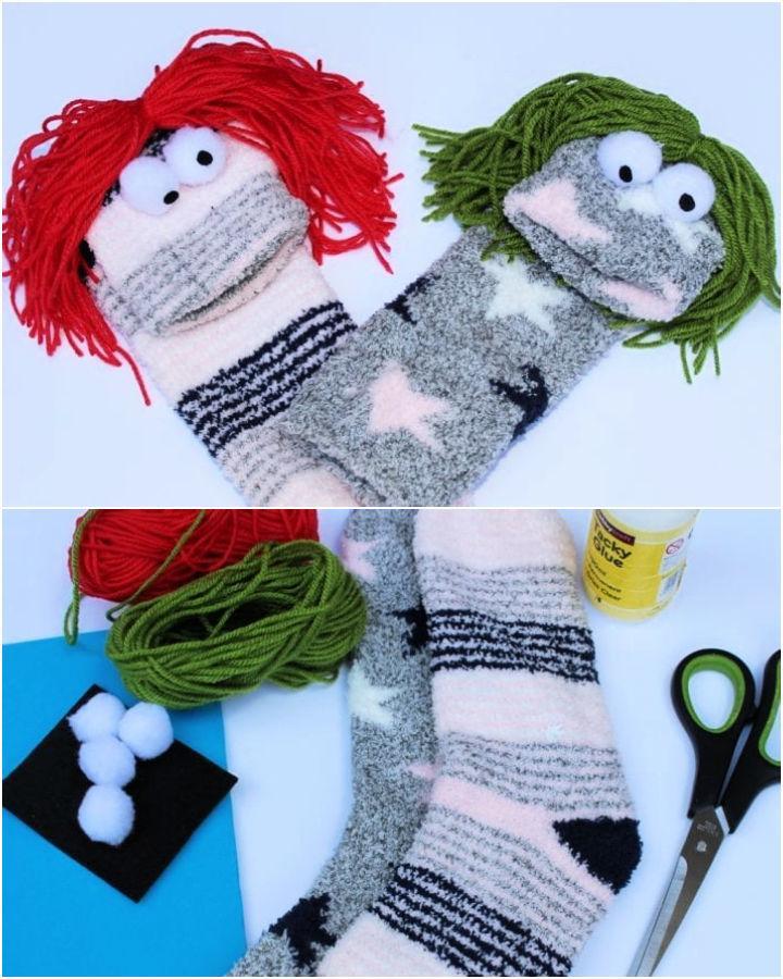 No Sew Sock Puppets