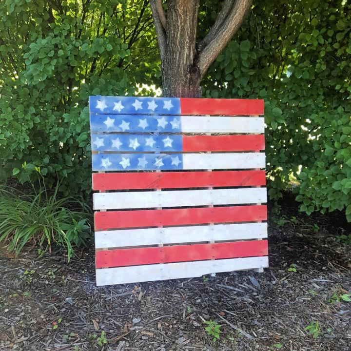 Pallet American Flag Plan