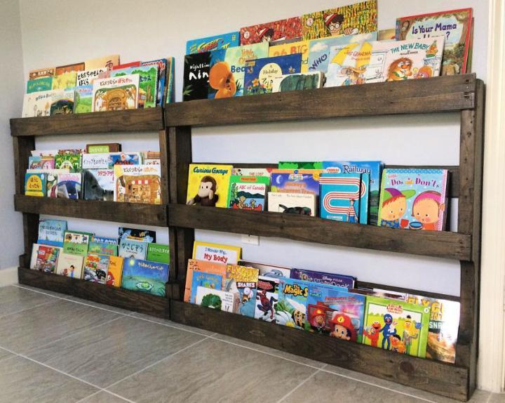 Pallet Bookshelves Plan