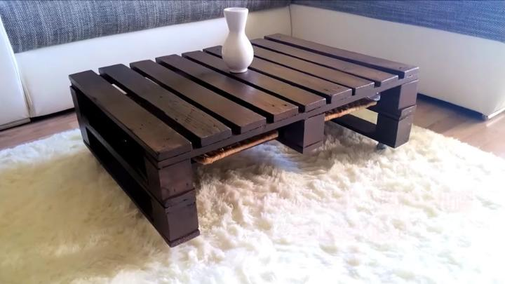 Pallet Coffee Table No Power Tools