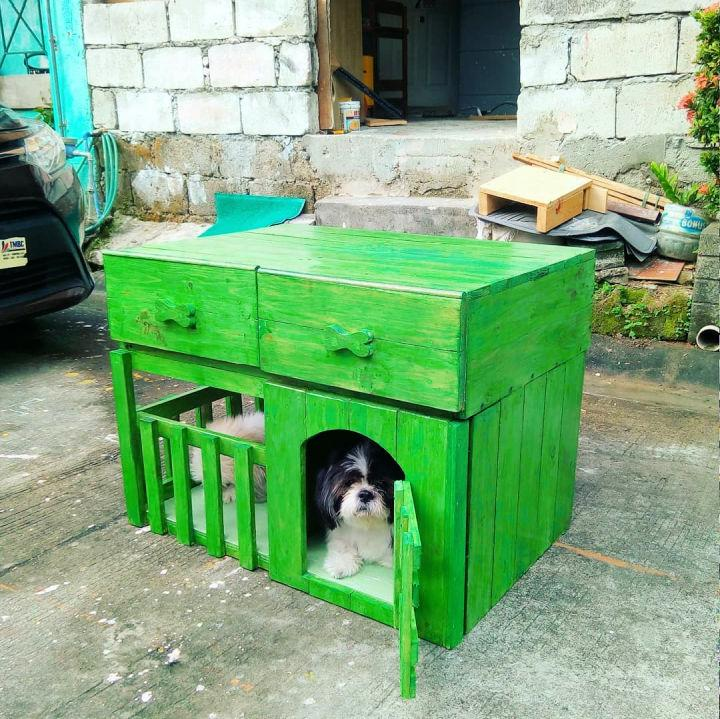 Pallet Dog House With Drawer