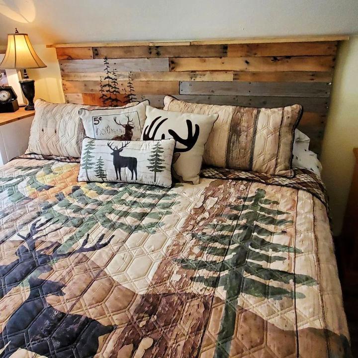 Pallet Headboard For Larger Bed