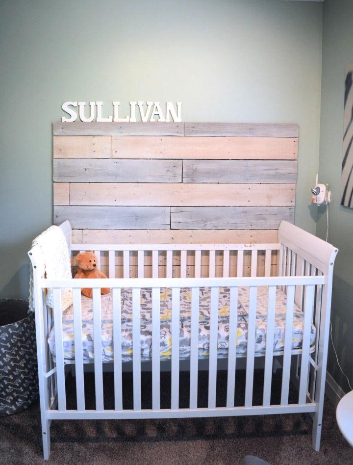 Pallet Headboard For Nursery