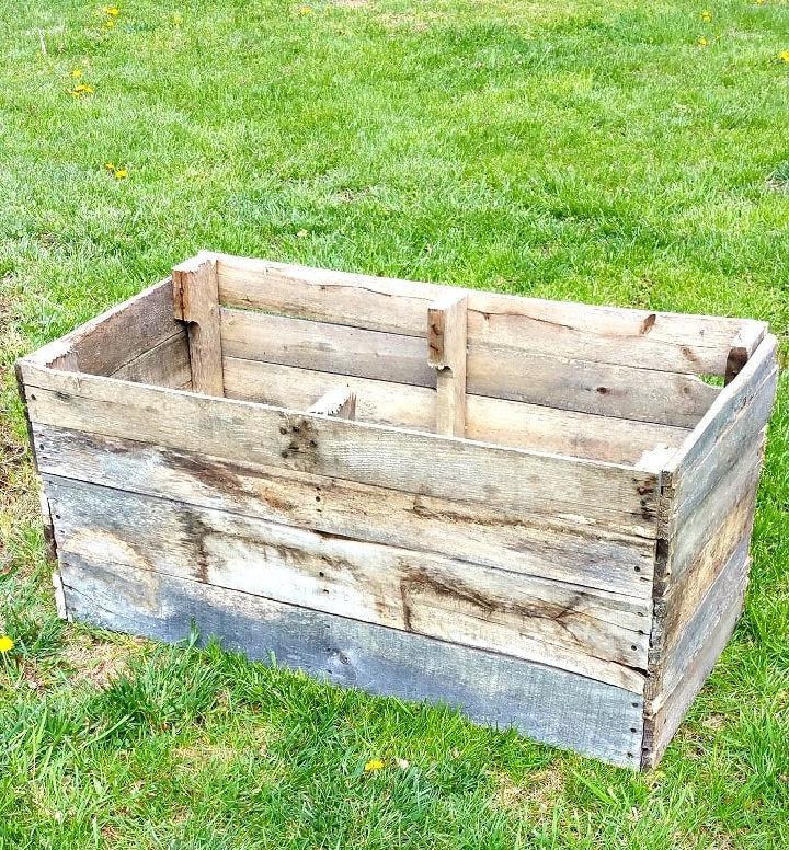 Pallet Raised Garden Box