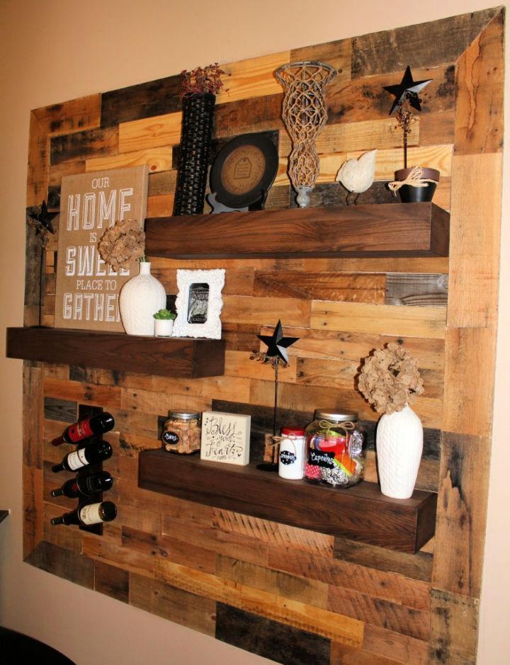 Pallet Wall Floating Shelves