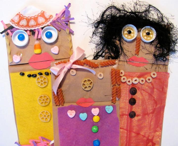 Paper Bag Fandango Puppets