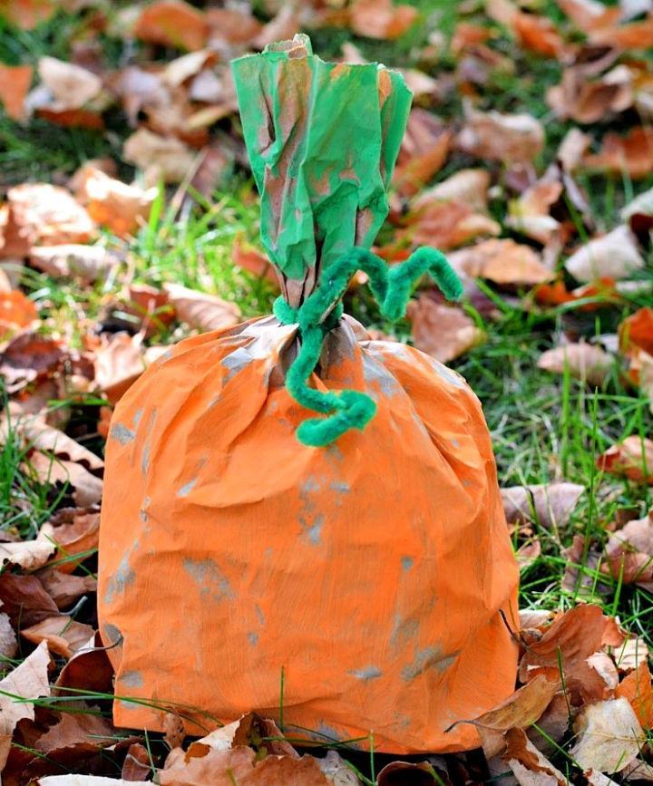 Paper Bag Pumpkin Craft for Kids