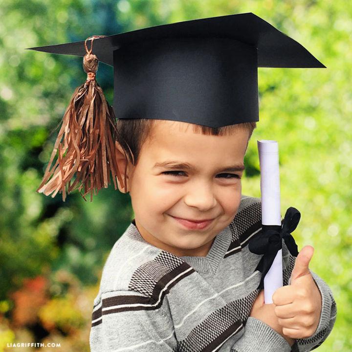 Paper Graduation Cap for Preschool