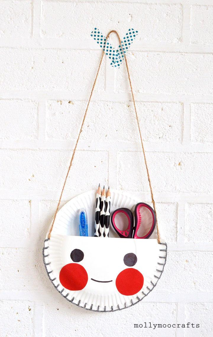 Paper Plates Desk Tidy Project