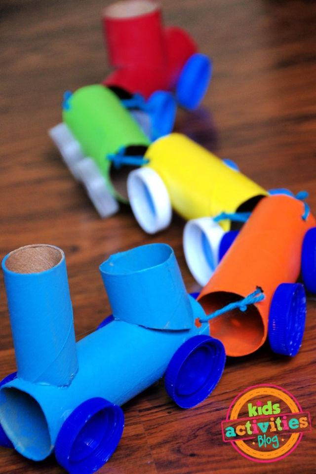 Paper Roll Train Craft For Toddlers