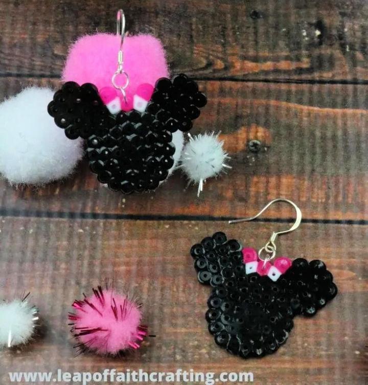 Perler Bead Disney Earrings
