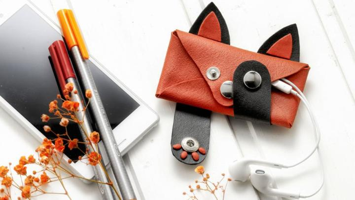 Polymer Clay Faux Leather Pouch