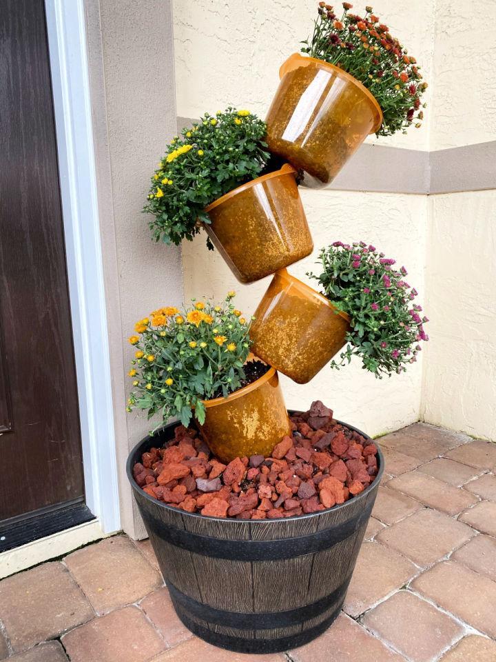 Pumpkin Topsy Turvy Planter
