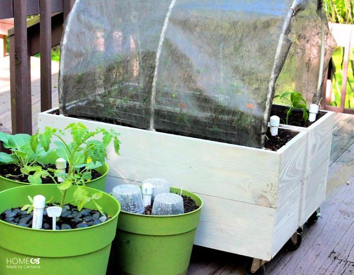 Raised Planter Boxes With Sub Irrigation