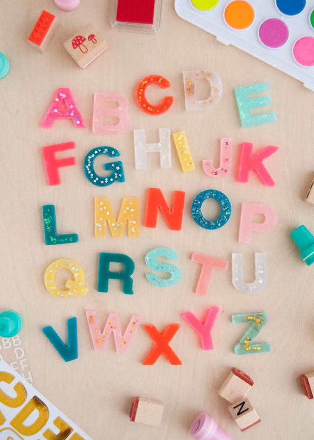 Resin Alphabet Set Without Resin
