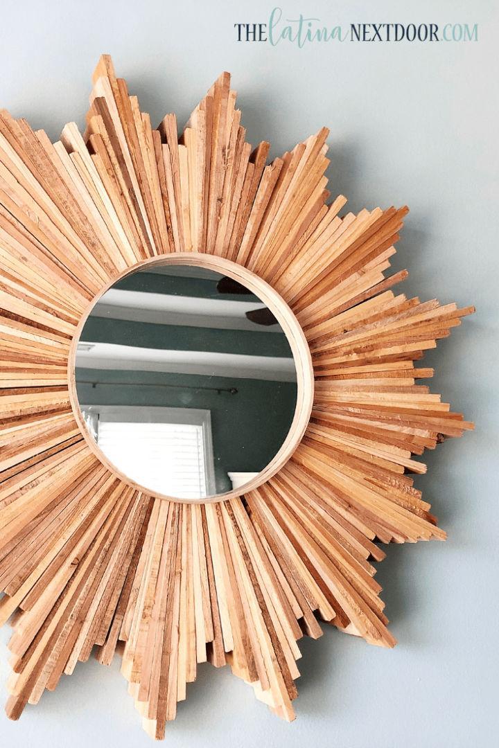 Rustic DIY Sunburst Mirror
