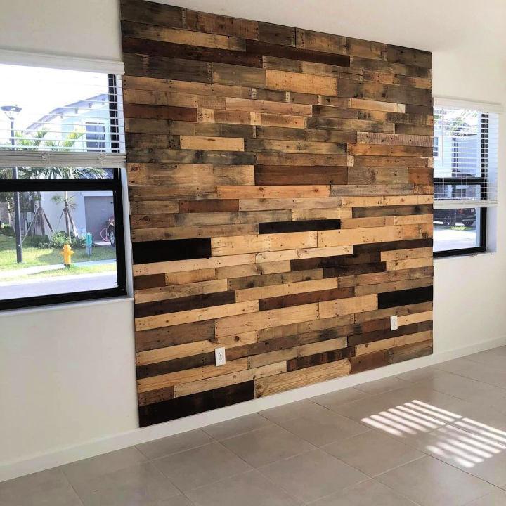 Rustic Pallet Wood Art Wall