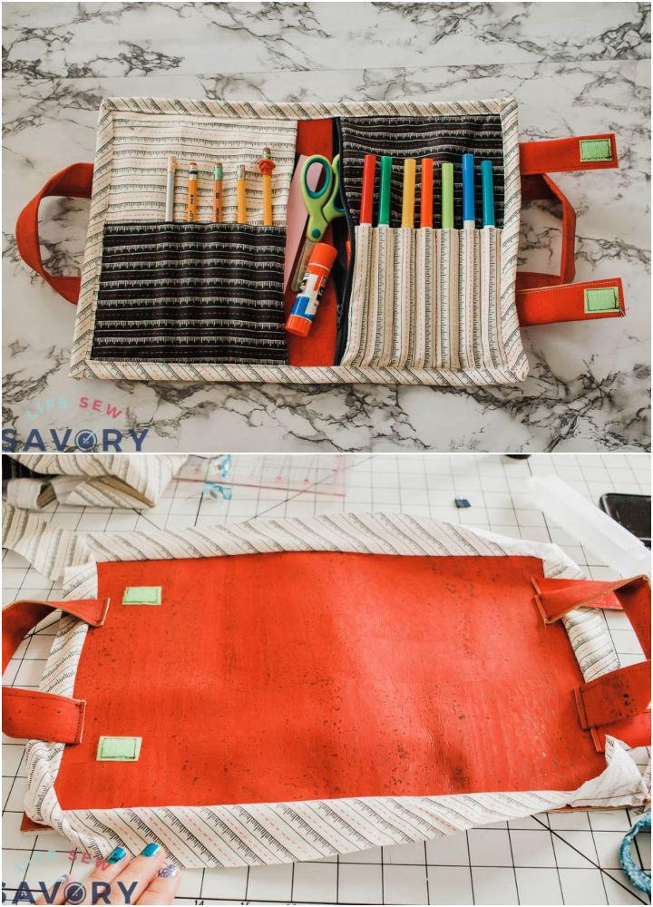 School Supplies Tote with Cork