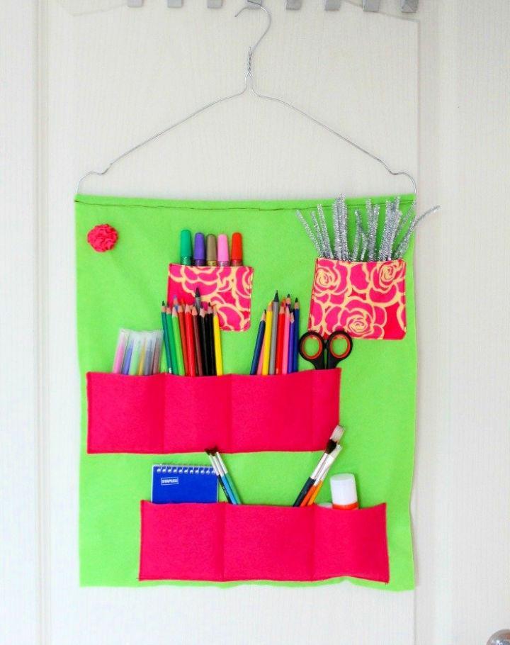 Sew a School Supplies Organizer