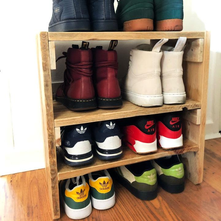 Shoe Rack Out Of Pallets