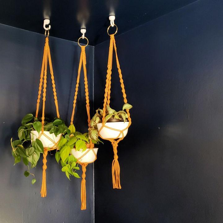 Simple Macrame Hanging Planters