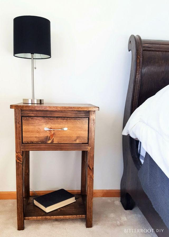 Simple One Drawer Nightstand