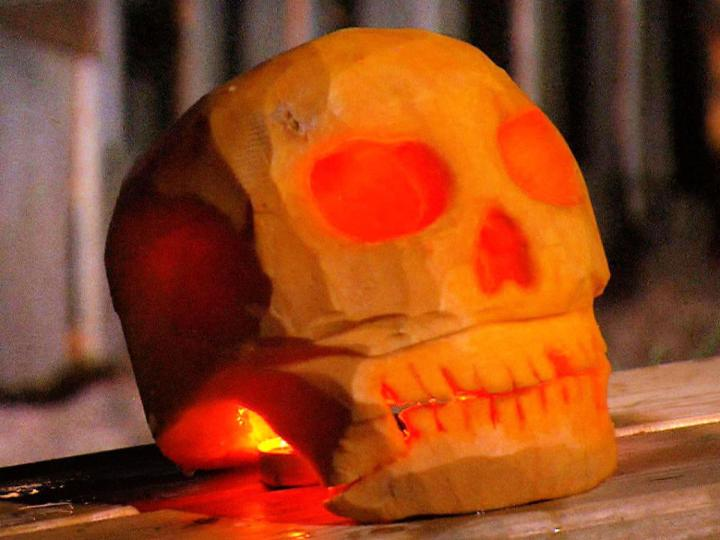Skull Jack O Lantern
