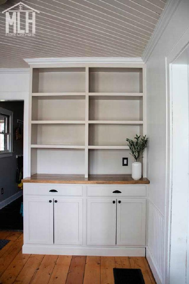 Stock Cabinets to Built ins Shelves
